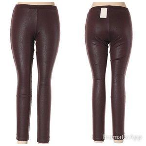 NWT BP Decadent Brown/Maroon Textured Leggings L